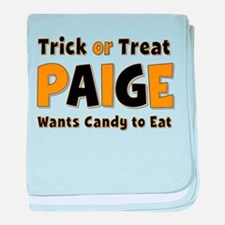 Paige Trick or Treat baby blanket