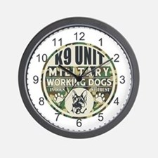 K9 Unit Military Working Dogs Wall Clock