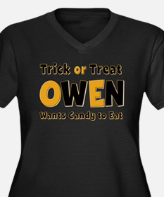 Owen Trick or Treat Plus Size T-Shirt