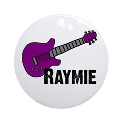 Raymie Guitar Gift Ornament (Round)