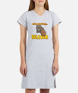 Funny Ask Me About My Beaver Humor Design Women's