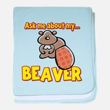 Funny Ask Me About My Beaver Humor Design baby bla