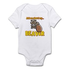 Funny Ask Me About My Beaver Humor Design Infant B