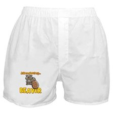 Funny Ask Me About My Beaver Humor Design Boxer Sh