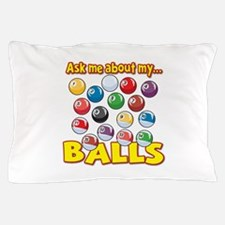 Funny Ask Me About My Balls Pool Billiards Humor P