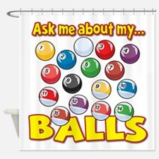 Funny Ask Me About My Balls Pool Billiards Humor S