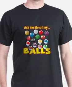 Funny Ask Me About My Balls Pool Billiards Humor D
