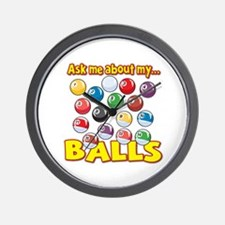 Funny Ask Me About My Balls Pool Billiards Humor W