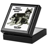 J&J I Support Husky Rescue Keepsake Box