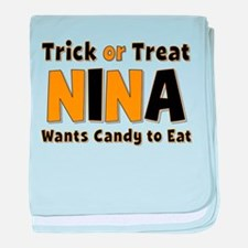 Nina Trick or Treat baby blanket