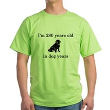 40 birthday dog years black lab T-Shirt