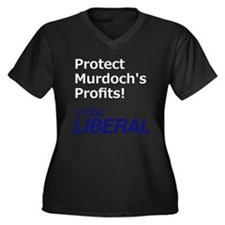 Vote Liberal (Dark, Double sided) Plus Size T-Shir