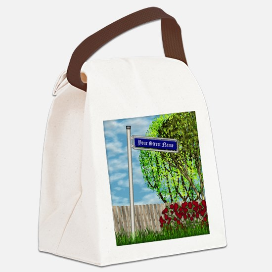 personalizable vintage street Canvas Lunch Bag