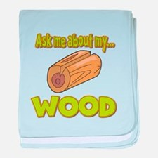 Ask Me About My Wood Funny Innuendo Design baby bl