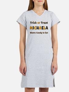 Michaela Trick or Treat Women's Nightshirt
