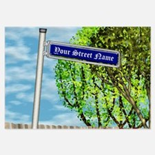personalizable vintage street Invitations