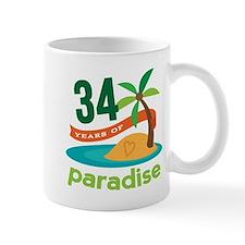 34th Anniversary Paradise Mug