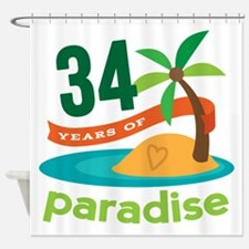 34th Anniversary Paradise Shower Curtain