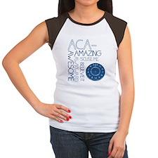 ACA-WHAT Women's Cap Sleeve T-Shirt
