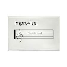 Music Improvisation Rectangle Magnet