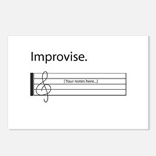 Music Improvisation Postcards (Package of 8)