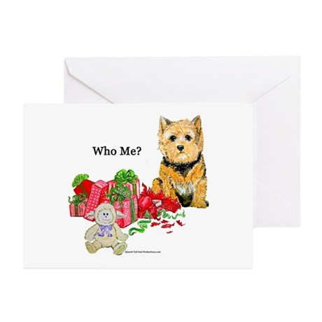 Norwich Terrier Christmas Greeting Cards (Package