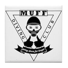 MUFF diving club logo shop Tile Coaster