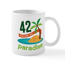 42nd Anniversary Paradise Mug