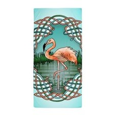 Celtic Flamingo Art Beach Towel