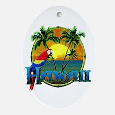 Hawaiian Sunset Ornament (Oval)