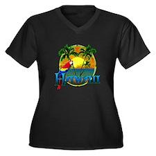 Hawaiian Sunset Plus Size T-Shirt