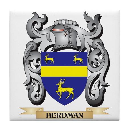 Herdman Coat of Arms - Family Crest Tile Coaster