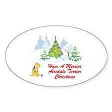 Airedale Terrier Christmas Decal