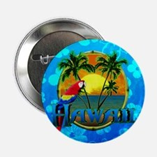 "Hawaii Sunset Blue Honu 2.25"" Button (100 pack)"