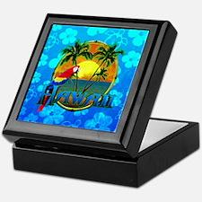 Hawaii Sunset Blue Honu Keepsake Box