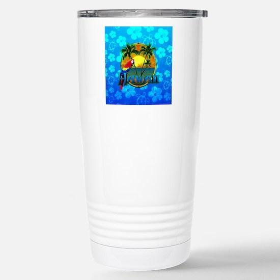 Hawaii Sunset Blue Honu Travel Mug