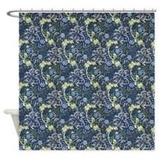 Morris Blue Daisies with Repeats Shower Curtain