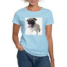 Pug Face Close-Up Photo Ash Grey T-Shirt