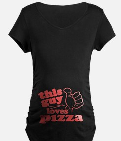 This Guy Loves Pizza Maternity T-Shirt