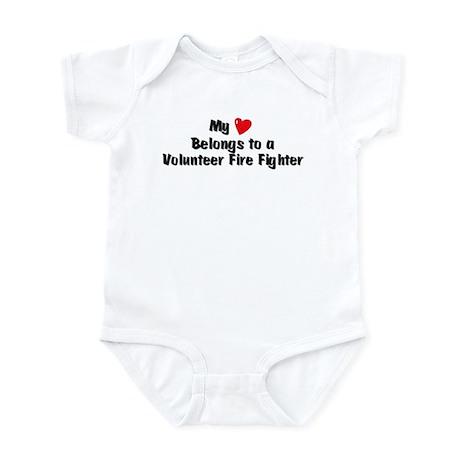 My Heart: Volunteer Fire Figh Infant Bodysuit