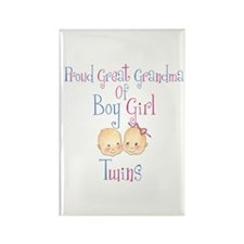 Proud Great Grandma BG Rectangle Magnet