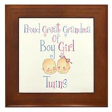 Proud Great Grandma BG Framed Tile