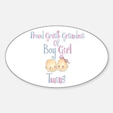 Proud Great Grandma BG Oval Decal