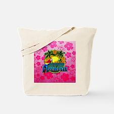Hawaii Sunset Pink Honu Tote Bag