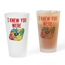 TROUBLE Drinking Glass