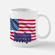 Jocelyn Patriotic American Flag Gift Mug