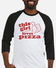 This Girl Loves Pizza Baseball Jersey