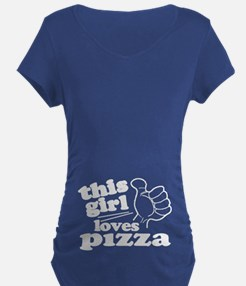 This Girl Loves Pizza Maternity T-Shirt
