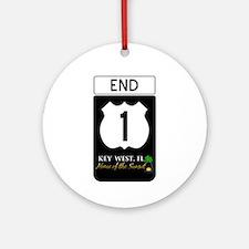 Highway 1 Key West Ornament (Round)
