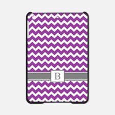 Purple Grey Chevron Monogram iPad Mini Case